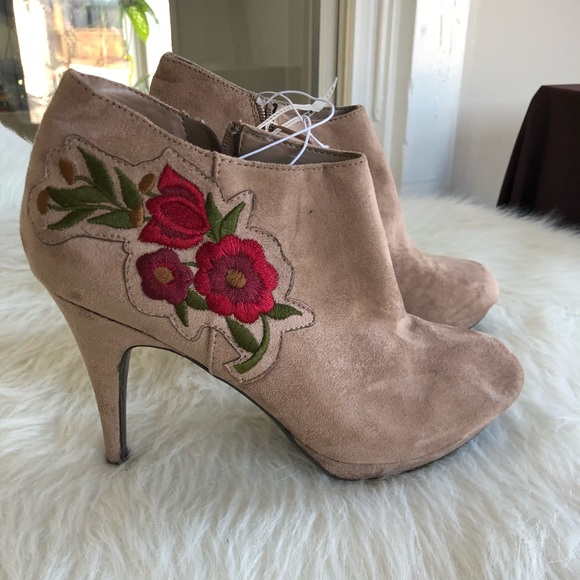 f43dddaf05f10 Impo Shoes | Floral Embroidered Booties Nwt | Poshmark